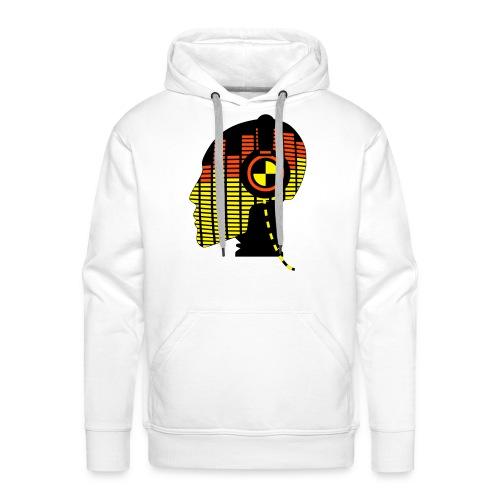 Sweat blanc Tête musique - Sweat-shirt à capuche Premium pour hommes