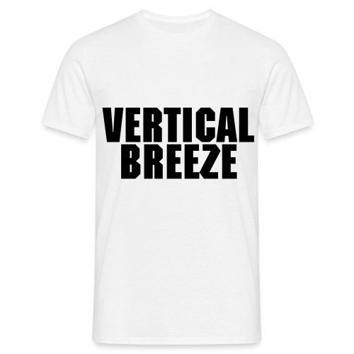 VERTICAL BREEZE BOY BLACK FONT - Männer T-Shirt