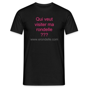 T-Shirt Homme Visiter ma rondelle - T-shirt Homme