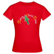 T-shirts ~ Vrouwen T-shirt ~ Merry Christ Mouse