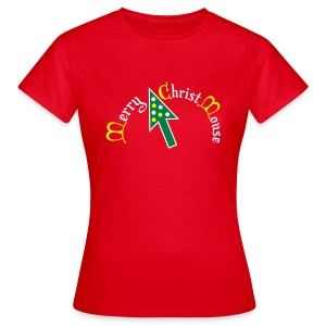 Merry Christ Mouse - Vrouwen T-shirt