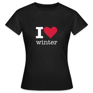 I Love Winter - Vrouwen T-shirt