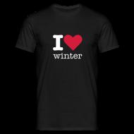 T-shirts ~ Mannen T-shirt ~ I Love Winter