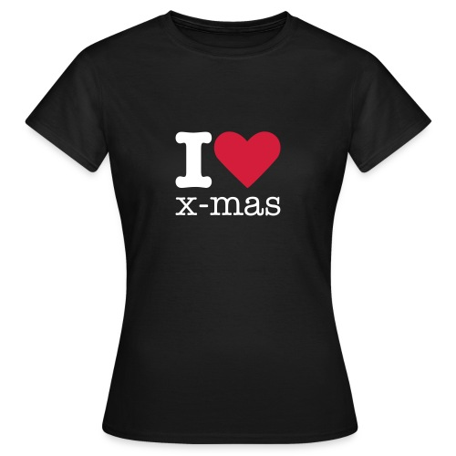 I Love X-mas - Vrouwen T-shirt