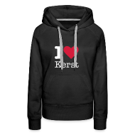 Sweaters ~ Vrouwen Premium hoodie ~ I Love Kerst