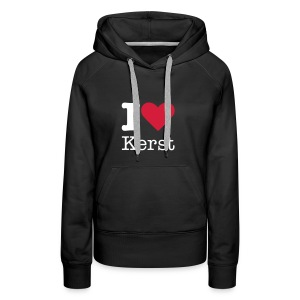 I Love Kerst - Vrouwen Premium hoodie