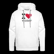 Sweaters ~ Mannen Premium hoodie ~ I Love Winter