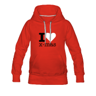 Sweaters ~ Vrouwen Premium hoodie ~ I Love X-mas