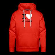 Sweaters ~ Mannen Premium hoodie ~ I Love X-mas