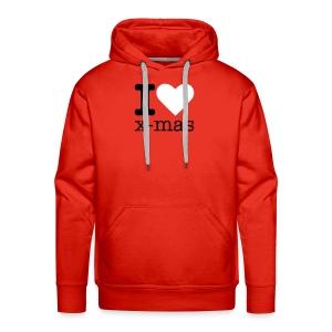 I Love X-mas - Mannen Premium hoodie