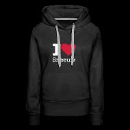 Sweaters ~ Vrouwen Premium hoodie ~ I Love Sneeuw
