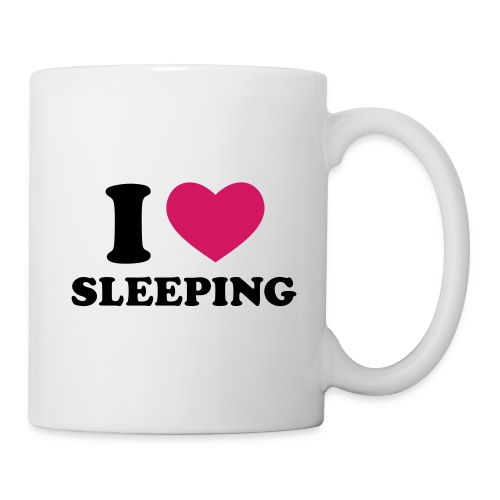 Tasse   I love sleeping   - Mug blanc
