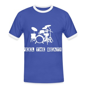 Feel The Beat With Drums Men's T-shirt - Men's Ringer Shirt