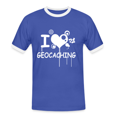 """I love geocaching"" - 1color"