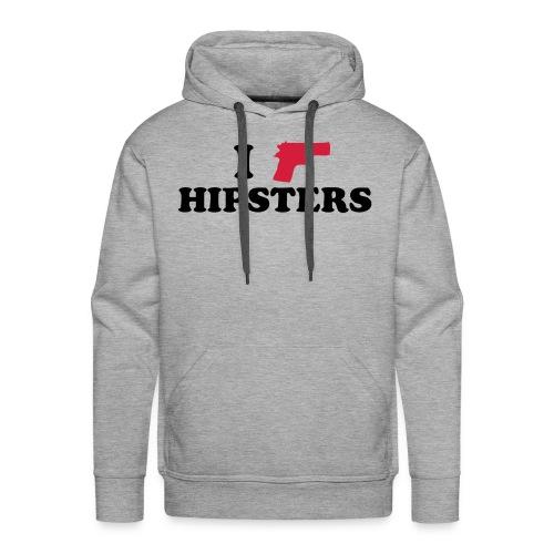 I shoot hipsters hoodie - Premiumluvtröja herr