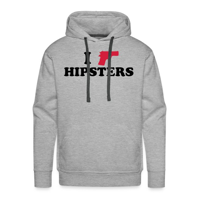 I shoot hipsters hoodie