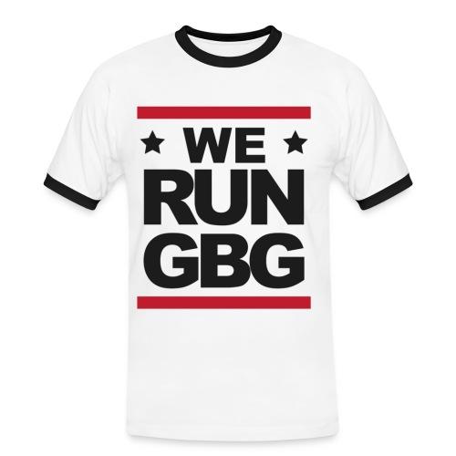 We run(dmc) GBG - svart tryck - Kontrast-T-shirt herr