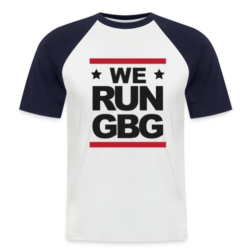 We run(dmc) GBG - svart tryck - Kortärmad basebolltröja herr