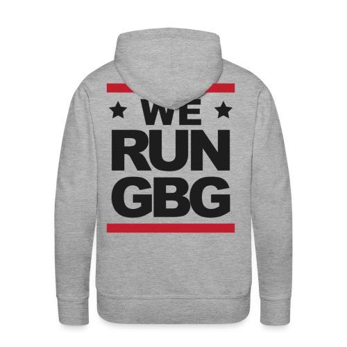 We run(dmc) GBG - svart tryck - Premiumluvtröja herr