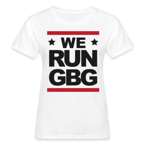 We run(dmc) GBG - svart tryck - Ekologisk T-shirt dam