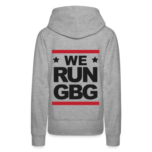 We run(dmc) GBG - svart tryck - Premiumluvtröja dam