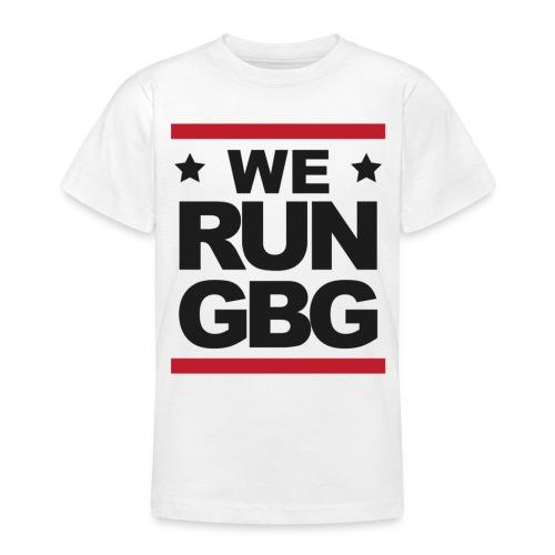We run(dmc) GBG - svart tryck - T-shirt tonåring