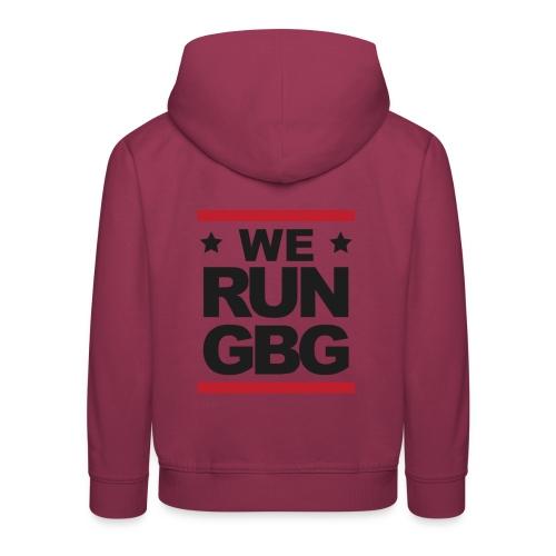 We run(dmc) GBG - svart tryck - Premium-Luvtröja barn