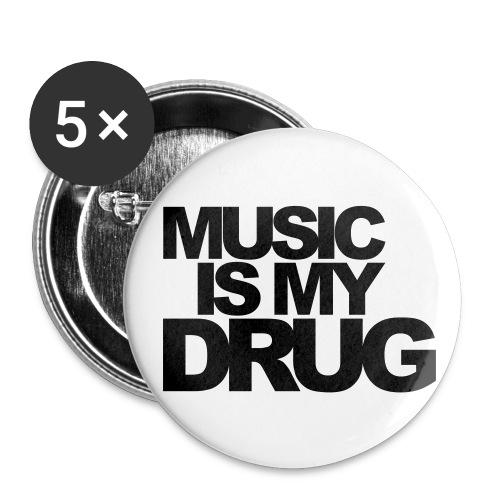 Badge Radio - Lot de 5 petits badges (25 mm)