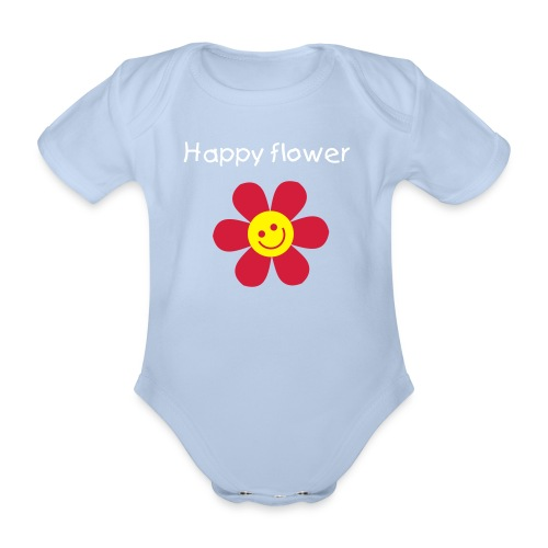 Happy Flower - Organic Short-sleeved Baby Bodysuit