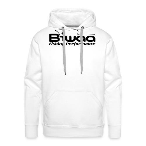 Biwaa Hoodie White logo noir - Sweat-shirt à capuche Premium pour hommes