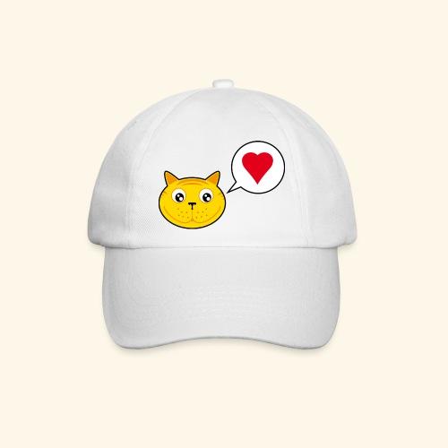 tete de chat avec coeur