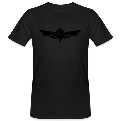 C-Drone-Defect - black shiny print on black Shirt - Men's Organic T-Shirt