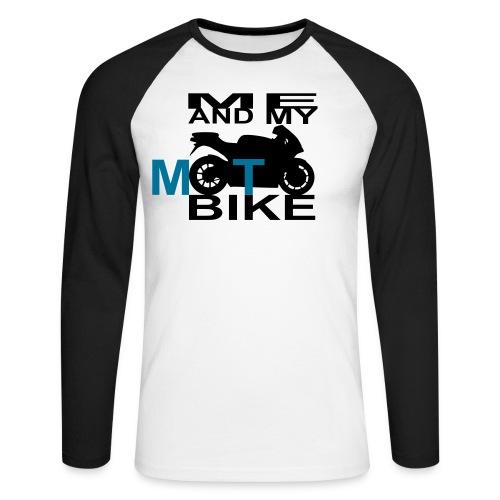 ME AND MY MOTOBIKE  - Männer Baseballshirt langarm