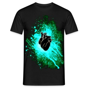 Raven Heart Blue - Men's T-Shirt