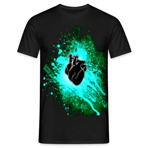 Raven Heart Blue - Men's T-Shirt