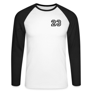 Men's Long Sleeve Baseball T-Shirt - 23,Baseball,long,men,mens,sleeve,sleeved,style,three,top,twenty