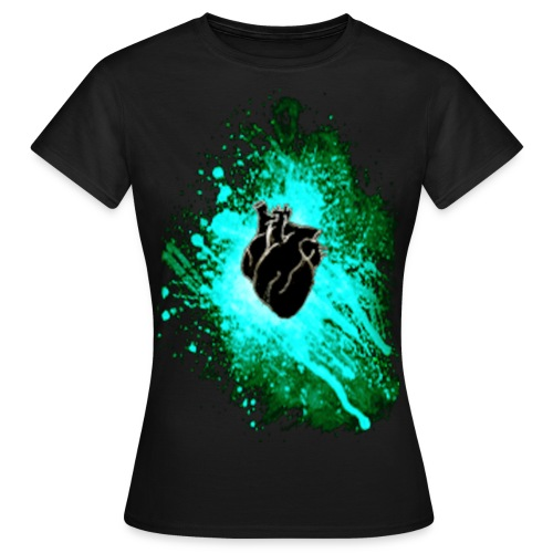 Raven Heart Blue - Women's T-Shirt
