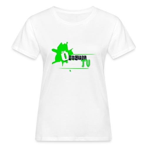 ÖkogeilTV Damen-Bio-Shirt weiß mit Logo - Frauen Bio-T-Shirt
