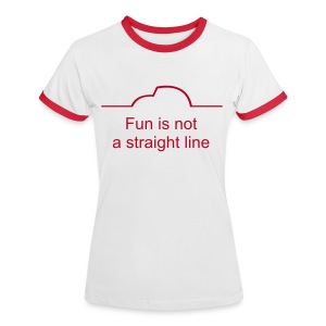 Fun is not a straight line - Frauen Kontrast-T-Shirt