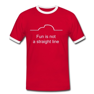 Fun is not a straight line - Männer Kontrast-T-Shirt