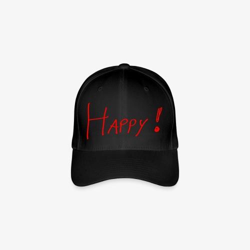 Happy - Baseballkappe - Flexfit Baseballkappe