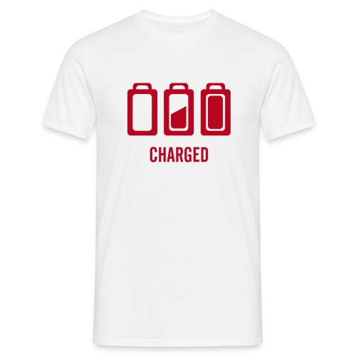 White Charged T-Shirt - Men's T-Shirt