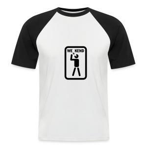 Weekend Black/White T-Shirt - Men's Baseball T-Shirt