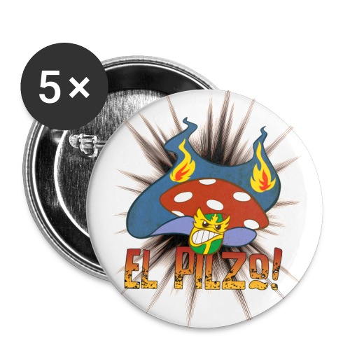 Wrestling El Pilzo- Buttons - Buttons groß 56 mm