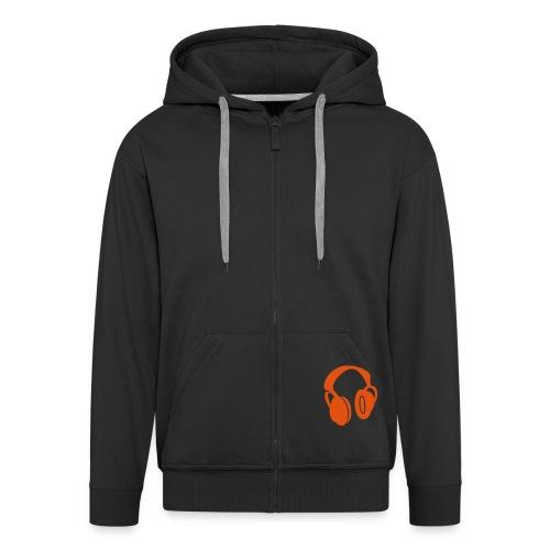 headphones - Men's Premium Hooded Jacket