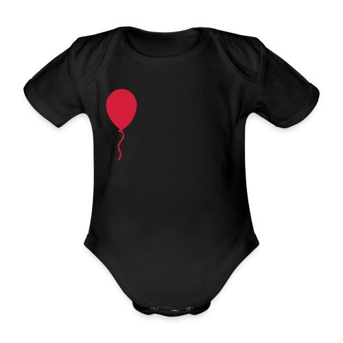 body globo rojo - Body orgánico de maga corta para bebé