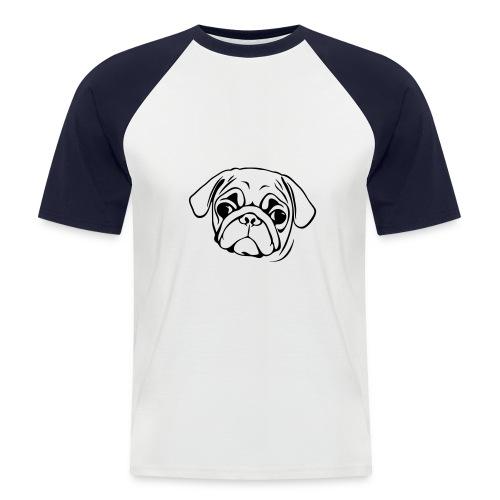 www.mops-ben.de - Männer Baseball-T-Shirt