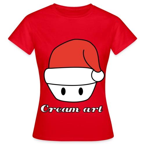 Tshirt Creamart noel Femme - T-shirt Femme