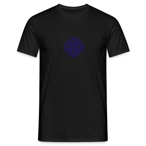6 heart knot blue - Men's T-Shirt