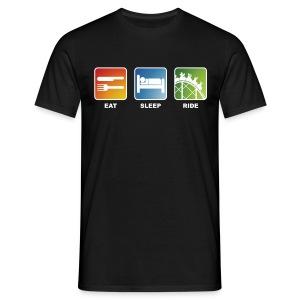 Eat, Sleep, Ride! - T-Shirt Schwarz - Männer T-Shirt